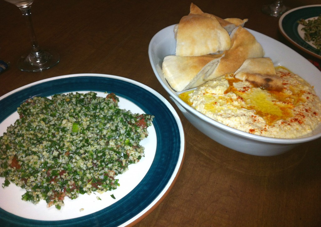 Tabouleh, burghul and parsley salad,