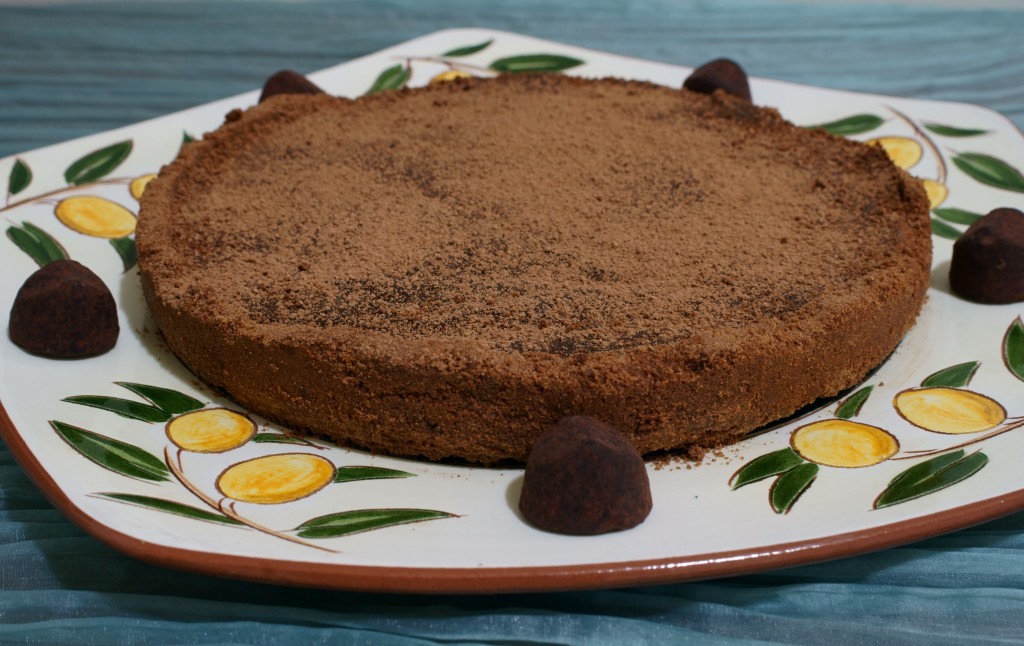 Chocolate Truffle Tart with Belgian Chocolate Truffles