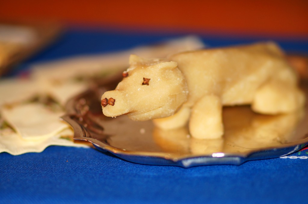 Handcrafted Marzipan Pig