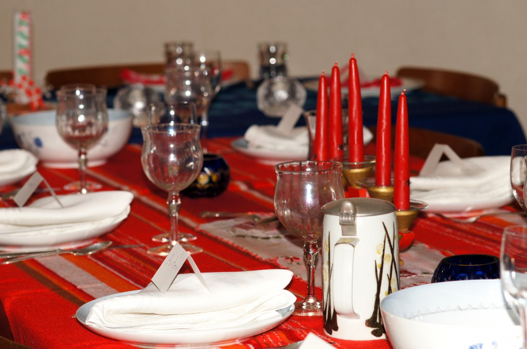 Our Beautiful Table with a 5 Tiered Candle Holder