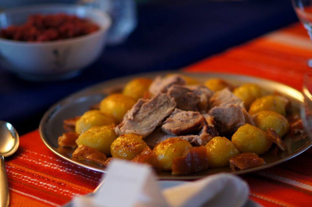 Roast Pork with Crackling and Brown Potatoes