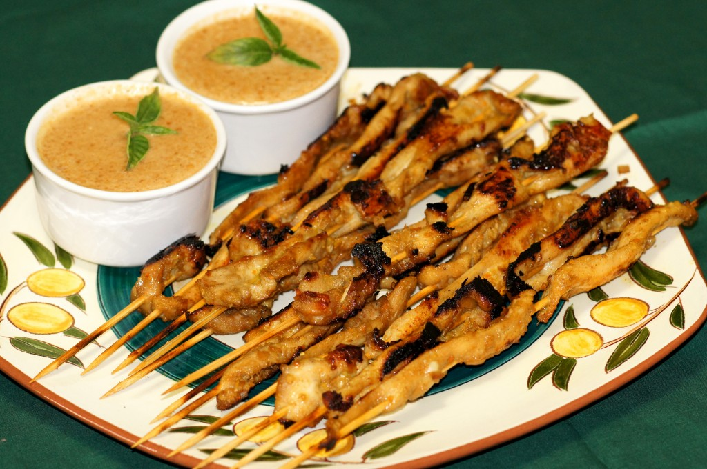 Authentic Thai Chicken Satay with Peanut Sauce