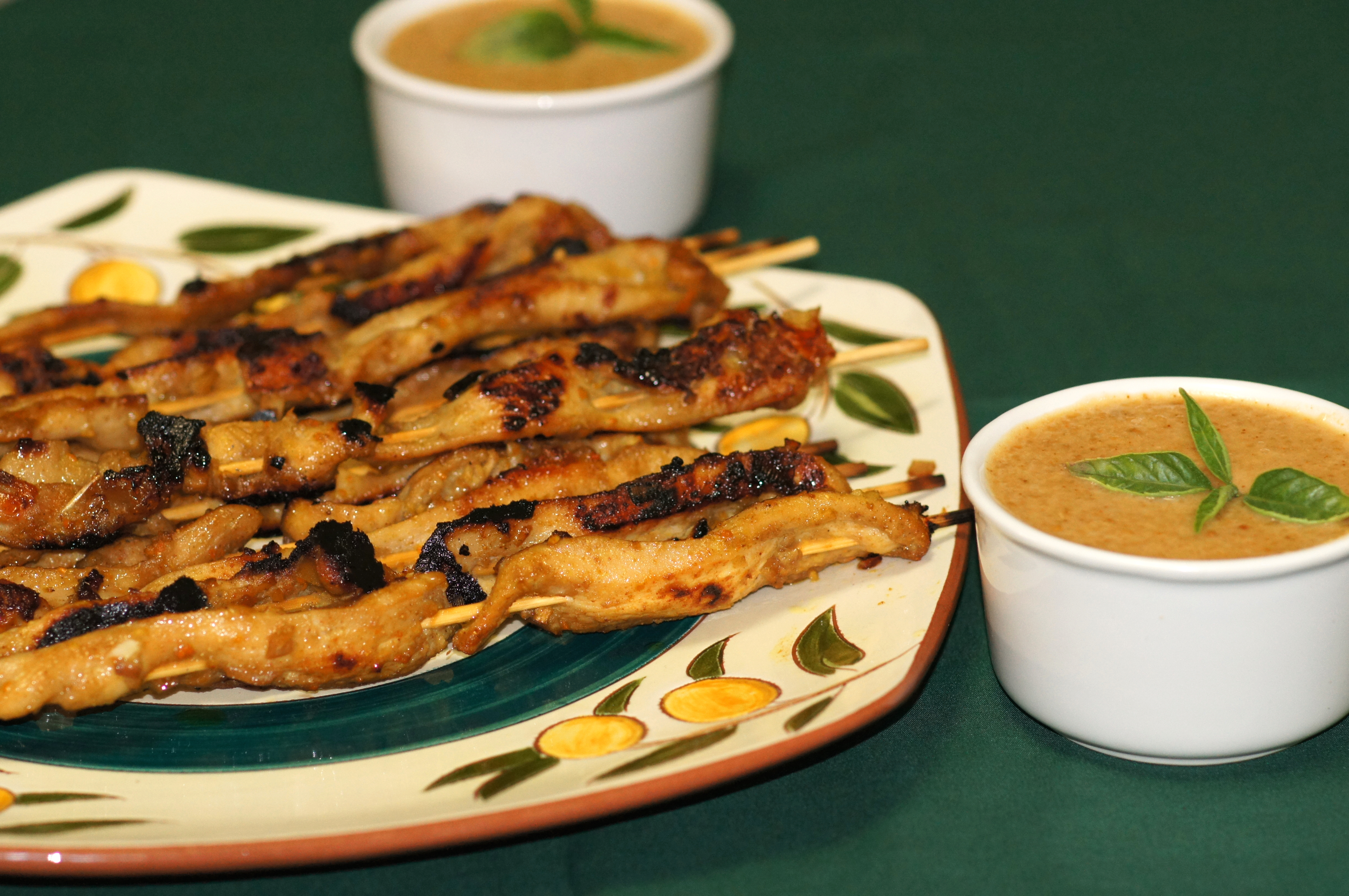 Grilled Thai Chicken Satay with Homemade Peanut Sauce