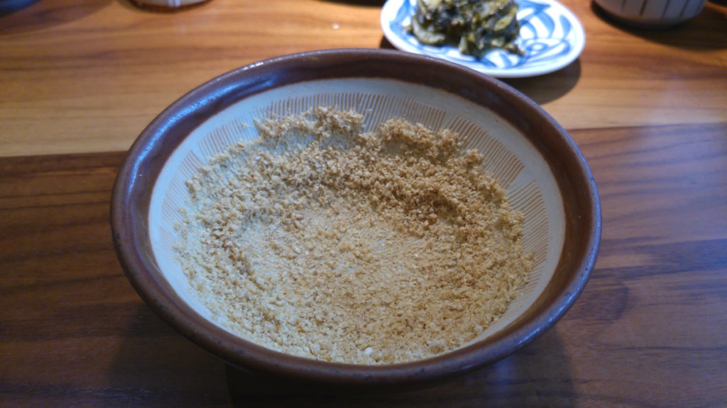 Ground Sesame Seeds in Mortar and Pestle at Katsukura