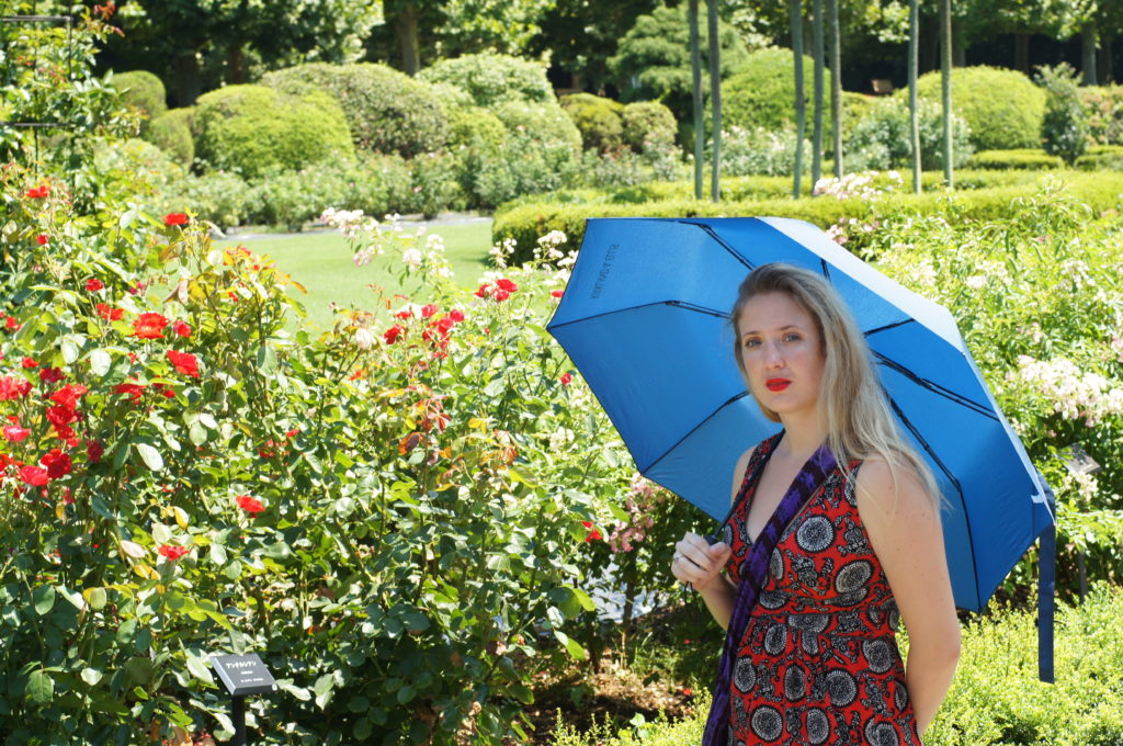Me Standing in the French Rose Garden in Shinjuku Gyoen