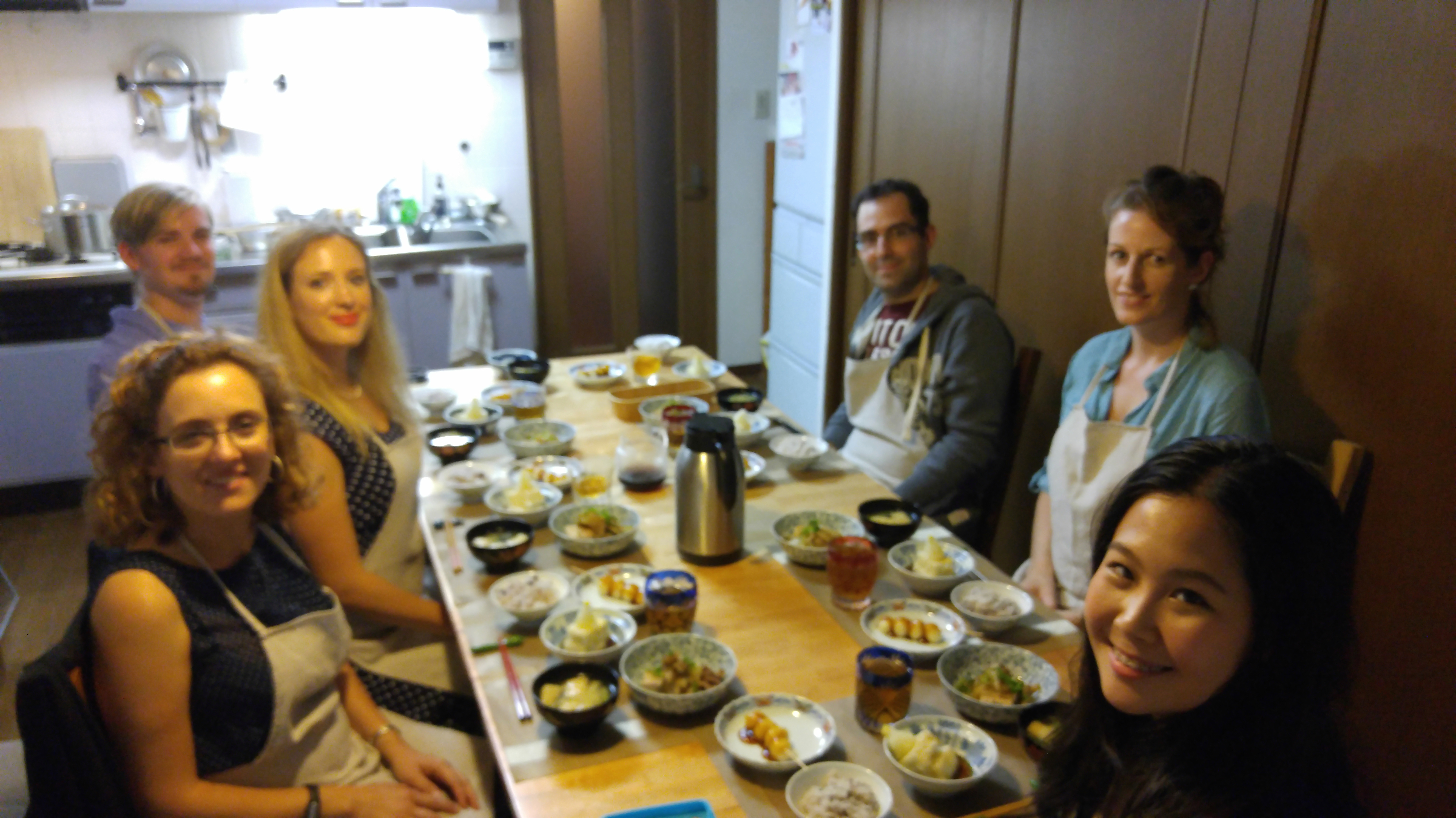 Mayuko's Little Kitchen Cooking Class Sitting Around Mayuko's Table Sharing a Meal