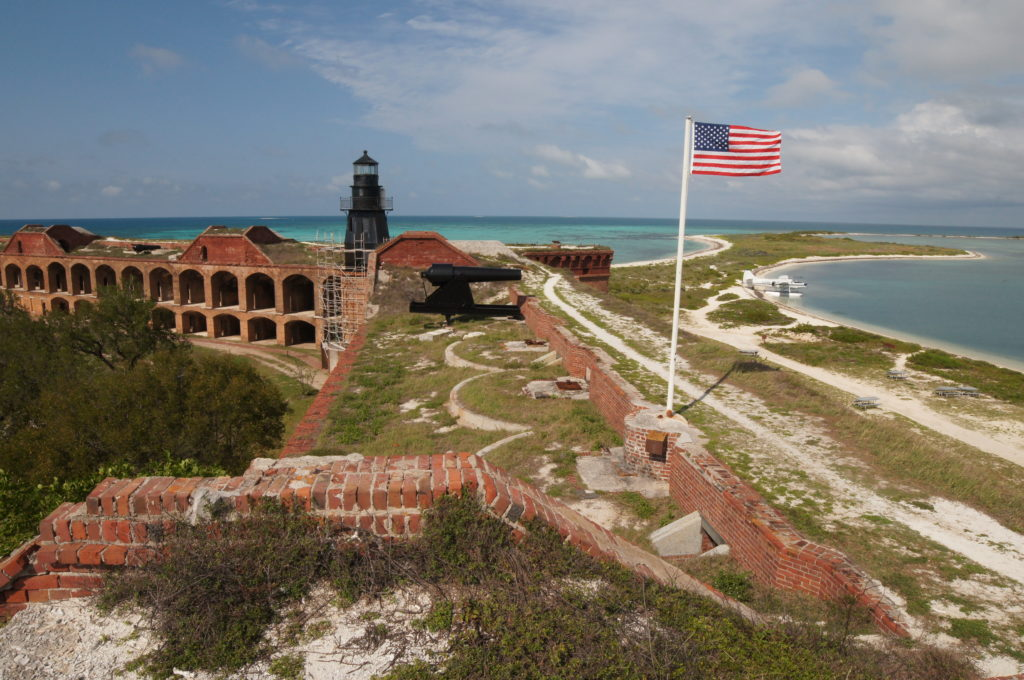 View of the Dry Tortugas from the Top of Fort Jefferson