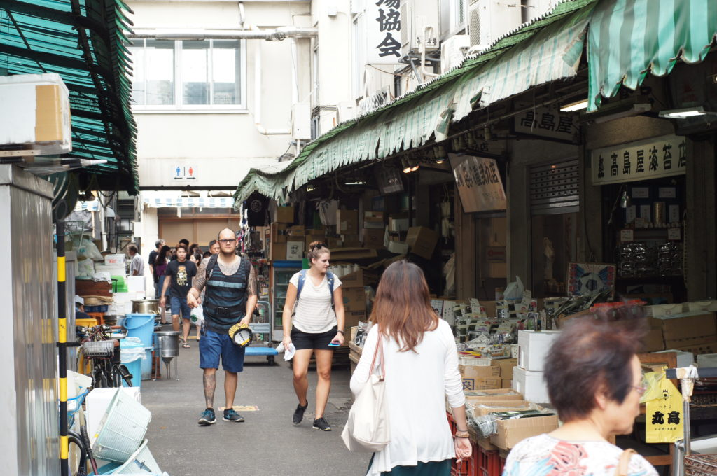 Shops and Restaurants in Tsukiji's Outer Market