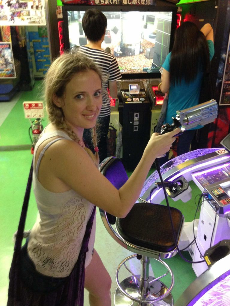 Me Playing Video Games in a Mega Arcade in Akihabara