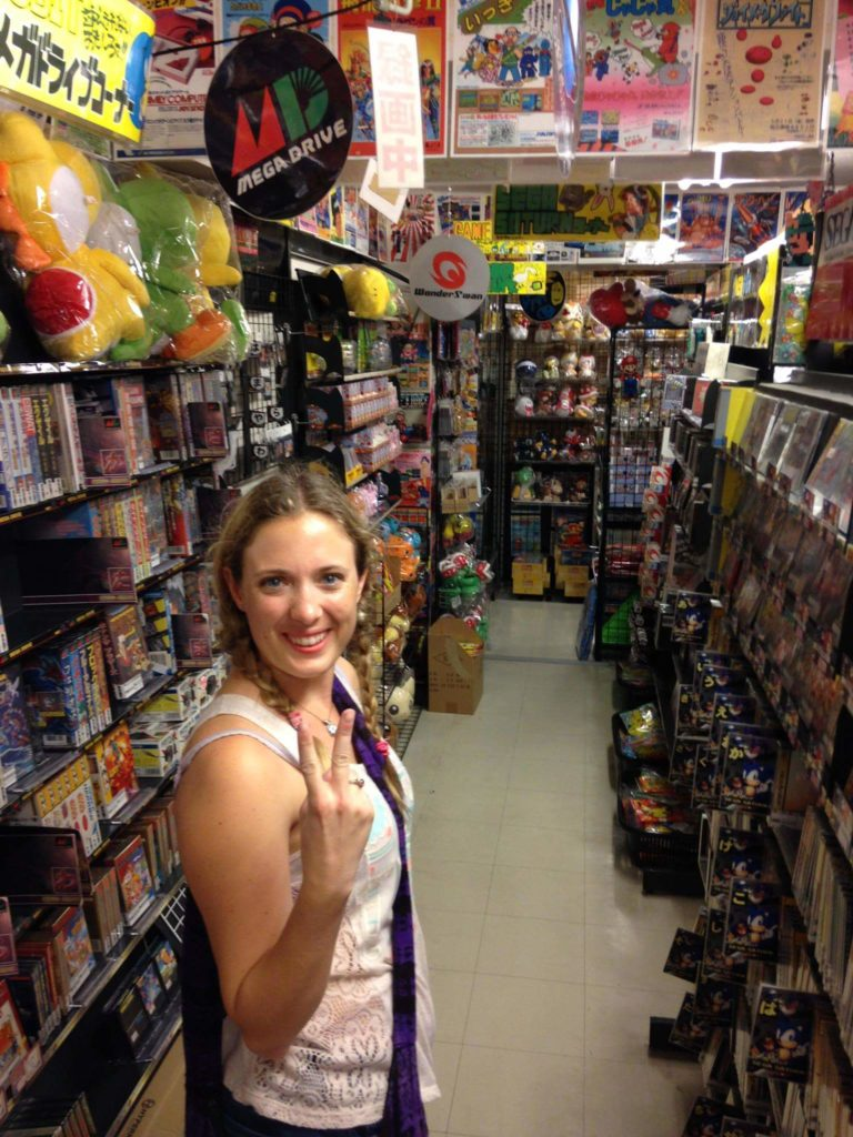 Me in Super Potato, a five-floor retro video game shop in Akihabara
