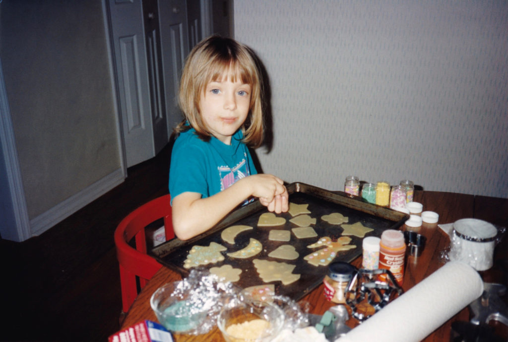 Me as a Child Decorating Sand Tarts