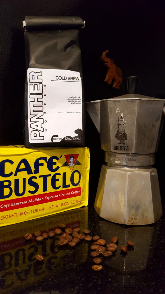 Panther Cold Brew Coffee Beans and Café Bustelo Espresso Ground Coffee