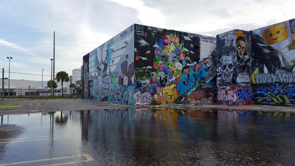 Building Covered in Street Art and Graffiti in Wynwood