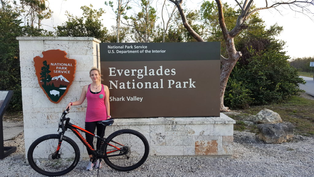 Me with my Bike in Front of the Sign for Shark Valley, Everglades National Park