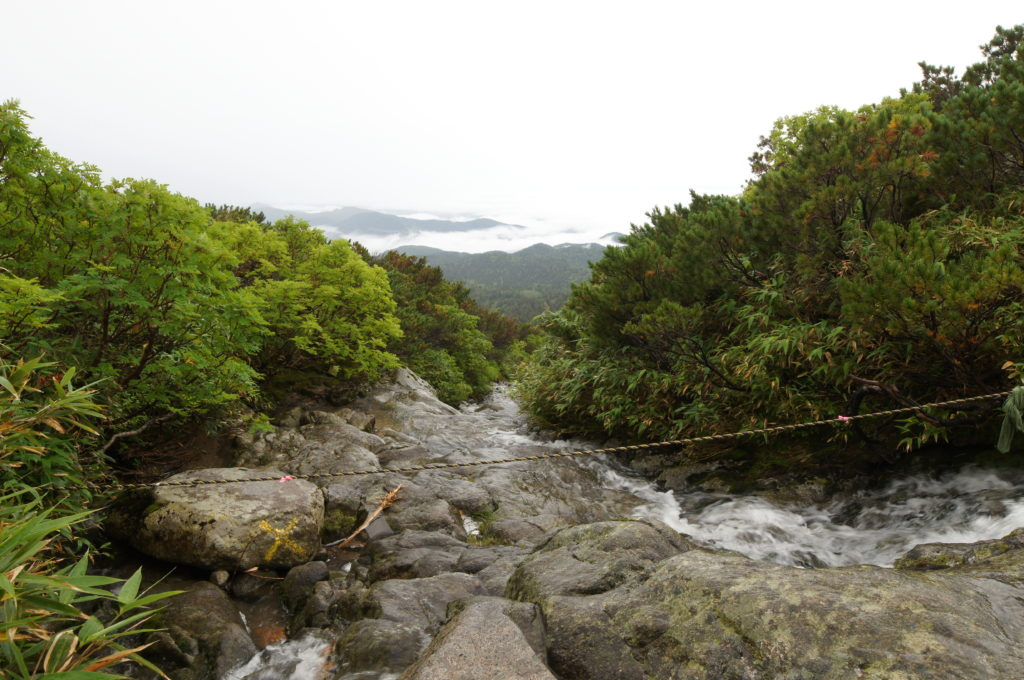 Mountain-River Crossing on Trail to Sugatmi Station