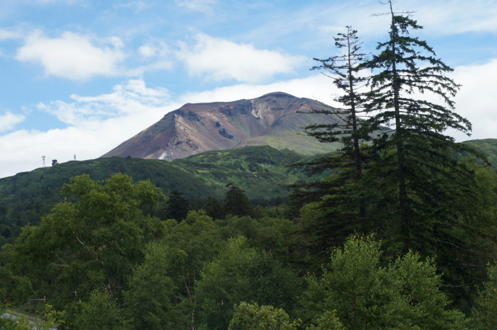 View of Mount Asahidake from Asahidake Onsen