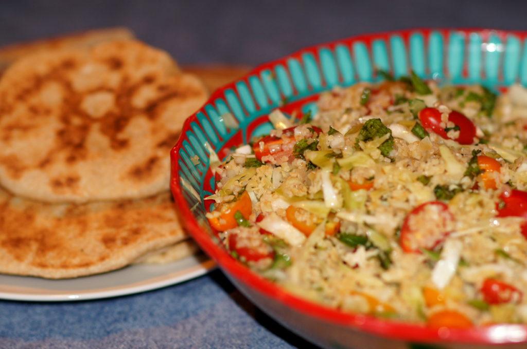 Vegetarian Foods Around the World: Tabouleh with Baharat Seasoning